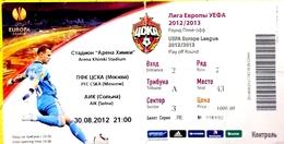 Football Tickets - P. F.C.  C S K A  Moscow V. A.I.K.  Solna , 2012 , EURO - CUP. - Biglietti D'ingresso