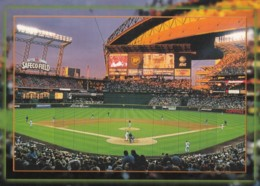 Seattle Mariners Baseball Stadium 'Safeco Field'  Game In Progress, C1990s/2000s Vintage Postcard - Baseball