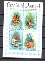 Shell Corall: Nevis 1983 Blok 2, Postfris - St.Kitts En Nevis ( 1983-...)