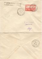 ALGERIE ALGERIA Poste Aérienne  1 (o) 1ère Liaison Vol Alger-Constantine 1946 - Algérie (1924-1962)