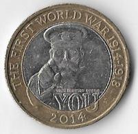 United Kingdom 2014 £2 World War One (A) [C221/1D] - 1971-… : Decimal Coins