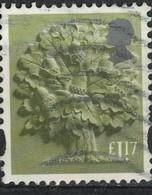 Royaume Uni 2017 Oblitéré Used Arbre Oak Tree Chêne 1.17 Livre Sterling - 1952-.... (Elizabeth II)