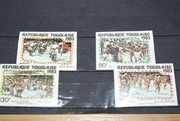 "Lot Timbres Non Dentelés Du Togo ""danse"" 1983 - Togo (1960-...)"