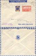 ALGERIE ALGERIA Poste Aérienne  1 + 256 (o) 1er Courrier Paris-Alger-Nice-Paris Par Avion Air France - Algérie (1924-1962)