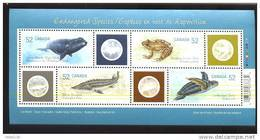 MINT NEVER HINGED MINI SHEET OF FISH-MARINE LIFE  #  M-096-1  ( CANADA  2229 A - Peces