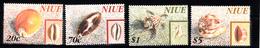Shell Corall: Niue 1998 Mi Nr 910 - 913 ,  Postfris - Niue