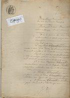 VP14.376 - THENEZAY - Acte De 1883 - Partage Famille CHEVALLIER à AUBIGNY - Manuscripts