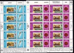 1983 Jersey EUROPA CEPT EUROPE 2 Minifogli MNH** 2 Minisheets Mi.299-302 - Europa-CEPT