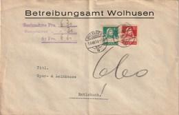 LETTRE 1930 BETREIBUNGSAMT WOLHUSEN Nachnahme - Suisse