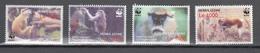 Sierra Leone 2004,4V In Set,WWF,monkeys,apen,affen,singes,monos,scimmias,,MNH/Postfris,(A3679) - Apen