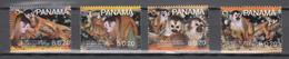 Panama 2007,4V In Set,WWF,monkeys,apen,affen,singes,monos,scimmias,,MNH/Postfris,(A3680) - Apen