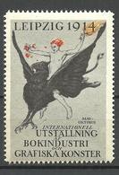Deutschland 1914 Reklamemarke Exhibition Of The Book Industrie & Graphic Arts In Leipzig MNH - Vignetten (Erinnophilie)