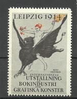 Deutschland 1914 Reklamemarke Exhibition Of The Book Industrie & Graphic Arts In Leipzig MNH - Cinderellas