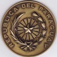 MEDALLA PARAGUAY DIRECCION DE CORREOS DIAM 7cm WEIGHT 91grs  ANN INCONNU, TBE - BLEUP - Administrations