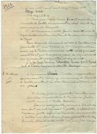 VP14.377 - NEUVILLE EN POITOU - Acte De 1922 - Mrs L'Abbé H. PARENT & L'Abbé P. RABETTE à MIGNE Contre Mr O. RIVIERE - Manuscripts