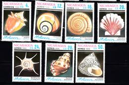 Shell Corall: Nicaragua 1988 Mi Nr  2887 - 2893, Postfris - Nicaragua