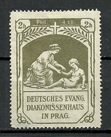 GERMANY 1909 Deutsches Evang. Diakonissenhaus In Prag Spendemarke * NB! Dünne Ecke! Thinned Corner! - Vignetten (Erinnophilie)