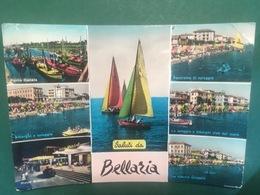 Cartolina Saluti Da Bellaria  - La Ridente Spiaggia - Panorama - 1959 - Rimini