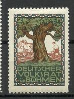 GERMANY Ca 1909 Deutscher Volksrat Für Böhmen Poster Stamp Vignette Baum Three * - Vignetten (Erinnophilie)