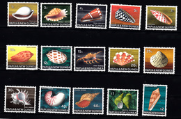 Shell Corall: Papua New Guinea 1968 Mi Nr  139 - 153 , Postfris - Papoea-Nieuw-Guinea