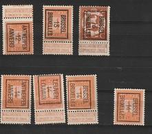 Typo 28-37-41-44-45-47 - Préoblitérés