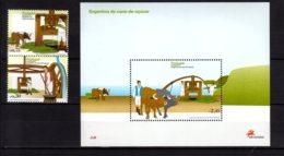 2007 Madeira - Sugar Mills At Madeira - Set And MS - MNH** MiNr. 279 - 280 + B 38 Food, Bulls, Agriculture - Madère