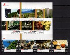 2006 Madeira -Madeira Wein - Set And MS - MNH** MiNr. 260 - 263 + B 35 Old Wine Vintages, Glass, Barrels, Vineyard - Wein & Alkohol