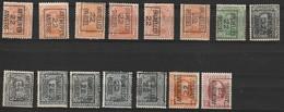 Typo 54-54II-55(2x)-56II(2x)- 60II-62 (2x)- 63(4x) -66-67 - Typos 1922-31 (Houyoux)