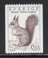 Sweden 1992 MNH Sc #1933 6k Squirrel - Suède