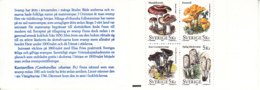 Sweden 1996 MNH Sc #2190a Mushrooms Complete Booklet - Carnets