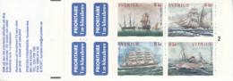 Sweden 1999 MNH Sc #2342a Swedish Ships Australia 99 Complete Booklet - Carnets