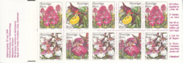 Sweden 1999 MNH Sc #2346a Orchids Complete Booklet - Carnets