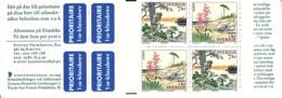 Sweden 1999 MNH Sc #2349a National Parks EUROPA Complete Booklet - Carnets