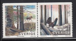 Sweden 2000 MNH Sc #2377a (5k) Pair Elk, Bird In Forest - Suède
