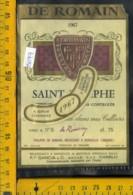 Etichetta Vino Liquore Saint-Estèphe De Romain 1967 Francia - Etichette