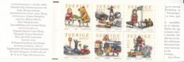 Sweden 2000 MNH Sc #2400 Block Of 6 (5k) Toys Complete Booklet - Carnets