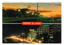 Emilia Romagna Rimini Di Notte 2 Vedute Non Viaggiata Condizioni Come Da Scansione - Rimini