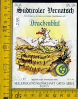 Etichetta Vino Liquore Drachenblut Bolzano - Altri