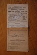 Rationnement - Demande Achat Velo Chef De Gare Saint Lo - Historische Documenten