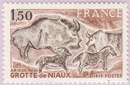 N° Yvert & Tellier 2043 - Timbre De France (Année 1979) - MNH - Grottes De Niaux - Nuevos