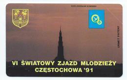 POLAND 6 - 50u SWIATOWY - ZJAZD MLODZIEZY CZESTOCHOWA 91 1991 MINT NEUVE POLOGNE URMET - Pologne