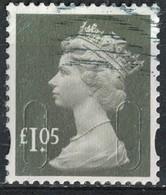 Royaume Uni 2016 Oblitéré Used Queen Reine Elizabeth II Security Machin 1.05 Livre Sterling Gris Olive SU - Oblitérés