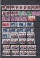 LOT DE 473 TIMBRES - FRANCE / REUNION -  Oblitérés - Scans 11 Pages- COTE TOTALE =350€ - Sellos