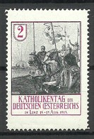 GERMANY 1913 Katholikentag D. Deutschen Österreichs In Linz MNH - Erinnofilie