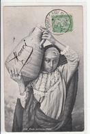 CPA- PORT-SAÏD- Fille Arabe Porteuse D'eau- 2scans - Persons