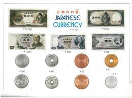 Giappone Japanese Currency Monete E Banconote Giapponesi Non Viaggiata Condizioni Come Da Scansione - Giappone