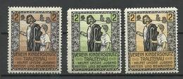 GERMANY 1909 Verein Kinderschutz Trautenau Charity Wohlfahrt Child Protection Society * - Erinnofilie