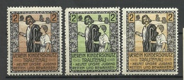 GERMANY 1909 Verein Kinderschutz Trautenau Charity Wohlfahrt Child Protection Society * - Erinnophilie