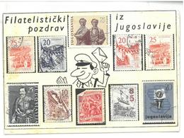 Jugoslavia Cartolina Con Francobolli Originali  Filatelistički Iz Pozdrav Jugoslavije Viaggiata 1966 Condizioni Come Da - Jugoslavia