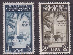 Italy-Colonies And Territories-Libya AP 34-35 1938 12th Tripoli Fair, Mint Hinged - Libya